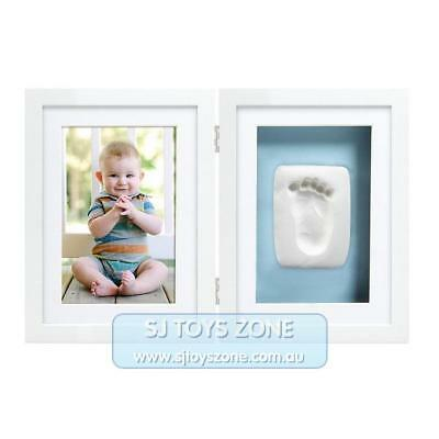 Pearhead Babyprints Newborn Baby Handprint or Footprint Desk Frame - Blue or Pin