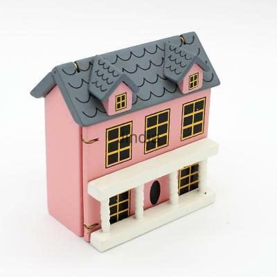 Miniature Wooden House Model 1:12 Scale Dollhouse Garden Hut Furniture Toy