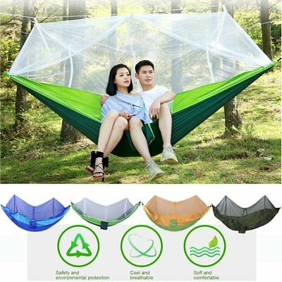 260x130cm Outdoor Camping Sleeping Hammock Hanging Bed Tent With Mosquito Net PM
