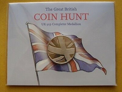The Great British Coin Hunt UK 50p Completer Medallion sealed
