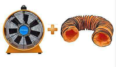 """12"""" 300Mm Cyclone Dust Fume Extractor / Ventilation Fan + 5M Pvc Ducting"""