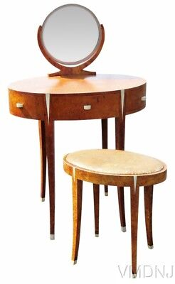 VMD1594 Deco Style Vanity with Bench attributed to Ruhlman