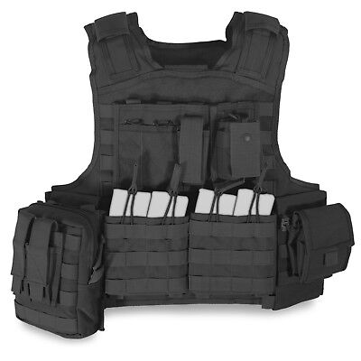 Bulldog Assault MK1 Military Army Police Tactical MOLLE Plate Carrier Vest Black