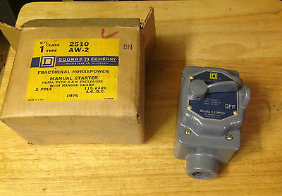 Square D  Fractional Horsepower Manual Starter Class 2510 Type AW2