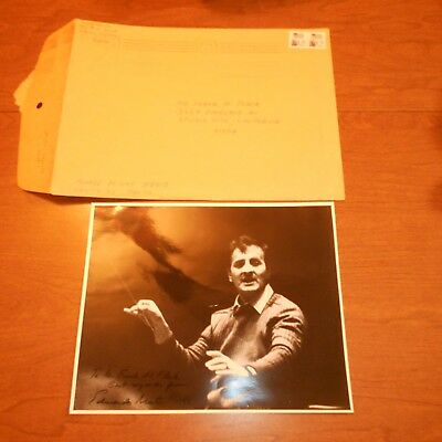 Eduardo Mata was a Mexican conductor and composer Hand Signed Photo Envelope
