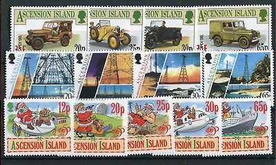 Ascension QEII 1996 various issues CAPEX96 BBC Christmas MNH