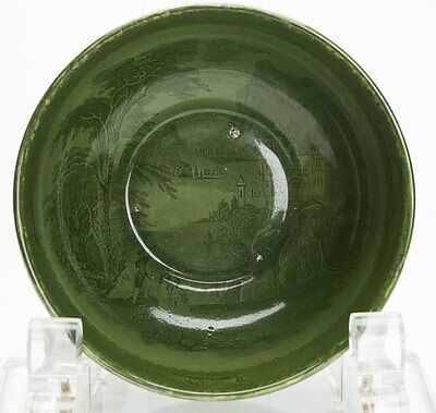 ROYAL STAFFORDSHIRE JENNY LIND GREEN GLAZED BOWL c.1900