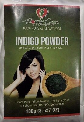 Indigo Powder 100gms -(Indigofera tinctoria) Natural hair dye Fresh stock- AUS