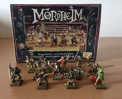 Warhammer GW Mordheim Witch Hunters Warband Pro Painted *BOXED* + 4 Figures