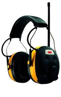 3M Tekk Protection Worktunes Ear Muffs AM/FM MP3 iPod Stereo Wired NRR 22 Db New