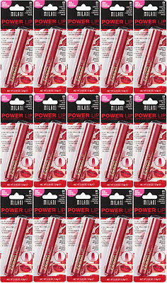 Lot of (15) Milani Power Lip Gloss Stain, Lasting & Moisturizing, 01 Red Control