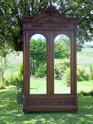 Large  French Walnut Bookcase 1860 Flat Packs For Removal Free Shipping England
