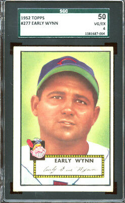 1952 Topps #277 Gil Early Wynn (HOF) Cleveland Indians -SGC 50 4 VG-EX Nice Card