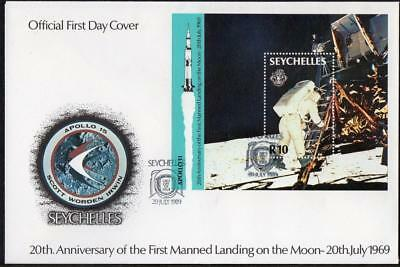 Seychelles 1989 20th Anniv. of the First Manned Landing on the Moon Cover