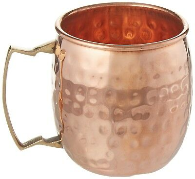New Set 2 Mugs Cups Kitchenware Handmade Pure Copper Hammered Moscow Mule