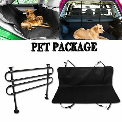 Zone Tech Car Pet Safety Barrier Dog Cage Blanket Travel Hammock Package Kit