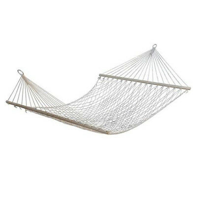 """59"""" Double Hammock 2 Person Patio Bed Nylon Rope Netting Hanging Swing C8H1"""
