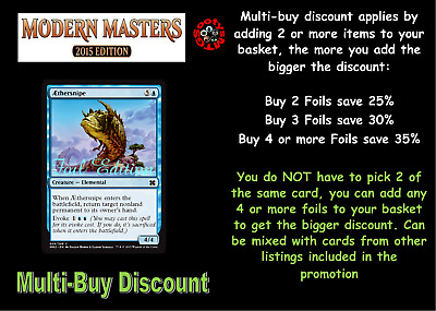 MTG Modern Masters 2015 Choose your Common or Uncommon Foil - New Buy 2 save 25%