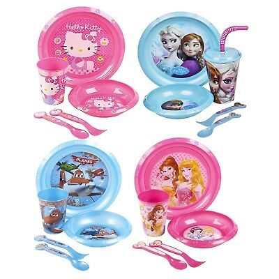 Kids 5 Piece Disney Breakfast Dinner Lunch Supper Plate Bowl Cup Children's Set