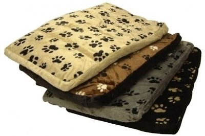 Washable Large Luxury Pet Mattress Dog Cat Bed Soft Fleece Paw Print Cover New