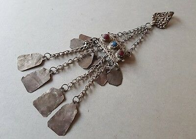 ANTIQUE & ORIGINAL OTTOMAN hand-crafted silver alloy adornment 19th century