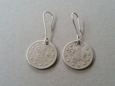 RARE Antique Silver Handmade 19th. Century from Year 1877-1293 Ottoman EARRINGS