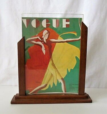 1930s oak wood and glass Gaumont style Art Deco Photograph Frame  slide in glass