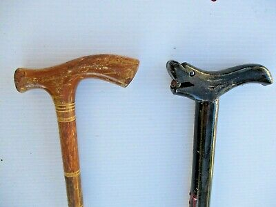 Black Lacquer / Red Design Wood Walking Stick Cane Dragon Handle With Marble
