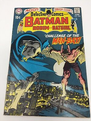 Detective Comics #400 (Jun 1970, DC) First Man-Bat Appearance