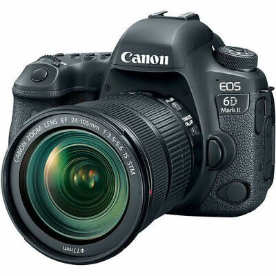 Canon EOS 6D Mark II Digital SLR Camera with 24-105mm f/3.5-5.6 Lens