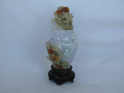 Awesome Vintage Chinese Carved Jade Small Jardiniere