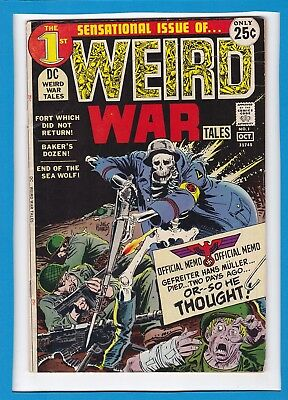 WEIRD WAR TALES #1_OCTOBER 1971_FINE+_SENSATIONAL 1st ISSUE_BRONZE AGE DC!