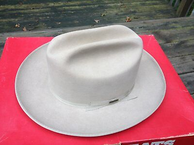Vintage Stetson SilverBelly Open Road Hat Size 7 1/8 with Box