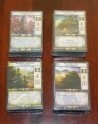 L5R CCG Ivory Edition Demo Decks x4 Crane Dragon Spider Unicorn 2014 AEG sealed