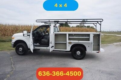 2012 Ford F250 XL Used utility pickup 4wd ladder rack clean 1 owner loaded