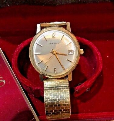 Longines 10K Gold Filled Vintage Watch, Sold As Is Not Running