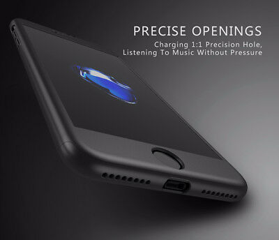 Ultra Thin Slim Hard Case Cover For Apple iPhone 6 6S 7 8 / Plus +Tempered Glass