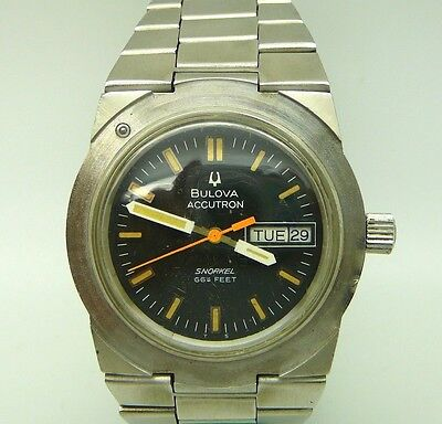 Vintage BULOVA Accutron Men's Watch, Snorkel 666 Ft, Diver's, 15 Jewels, Swiss
