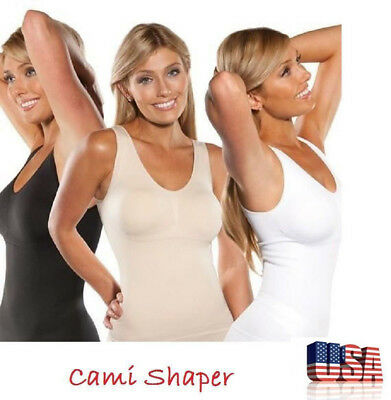 Women's Body Shaper Genie Bra Shapewear Tank Top Slimming Slim Vest Corset Shirt
