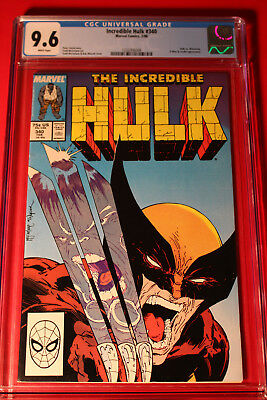 Incredible Hulk #340 Cgc 9.6 Nm+ W Wolverine Todd Mcfarlane Marvel Spider-Man