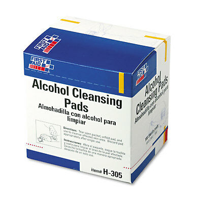 First Aid Only Alcohol Cleansing Pads Dispenser Box 100/Box H305