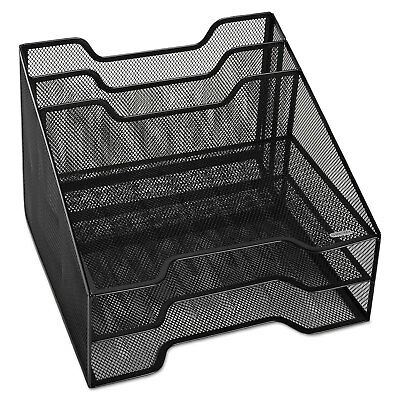 Rolodex Combination Sorter Five Sections Mesh 12 1/2 x 11 1/2 x 9 1/2 Black