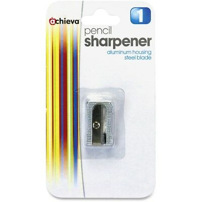 "Officemate Aluminum Pencil Sharpener 3/8"" Metallic Silver 30233"