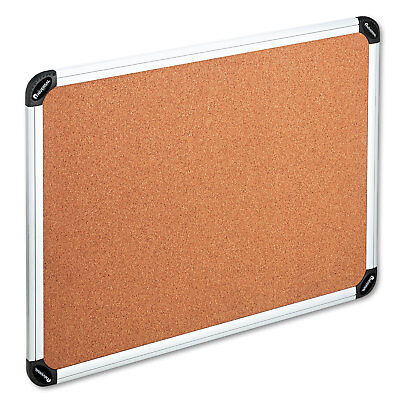 UNIVERSAL Cork Board with Aluminum Frame 48 x 36 Natural Silver Frame 43714