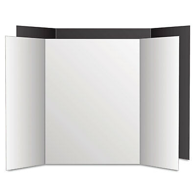 Eco Brites Too Cool Tri-Fold Poster Board 36 x 48 Black/White 6/PK 27135