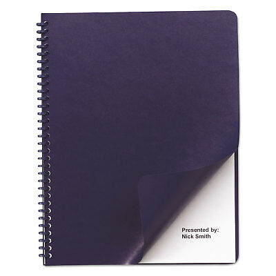 Swingline Leather-Look Binding System Covers 11-1/4 x 8-3/4 Navy 50 Sets/Pack