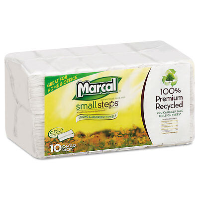 Marcal Embossed Paper Towels C-fold White 150/Pack 6724