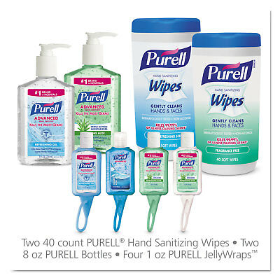 PURELL On the Go Hand Sanitizer Kit Assorted 8 Pieces 6 Kit/Carton 9120K1EC