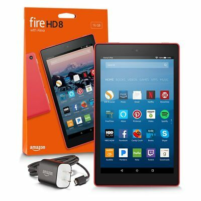 """New Amazon Fire HD 8 Tablet 8"""" Display 16 GB Canary Yellow w offer 7th Gen 2017"""