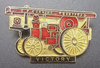 Showmans Engine Enamel Pin Badge - Steam Traction Engine, Victory, GT Thursford